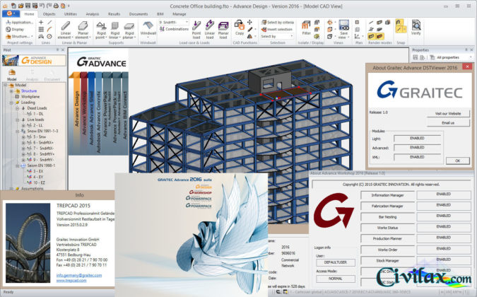 Working with Graitec Advance 2016 full license