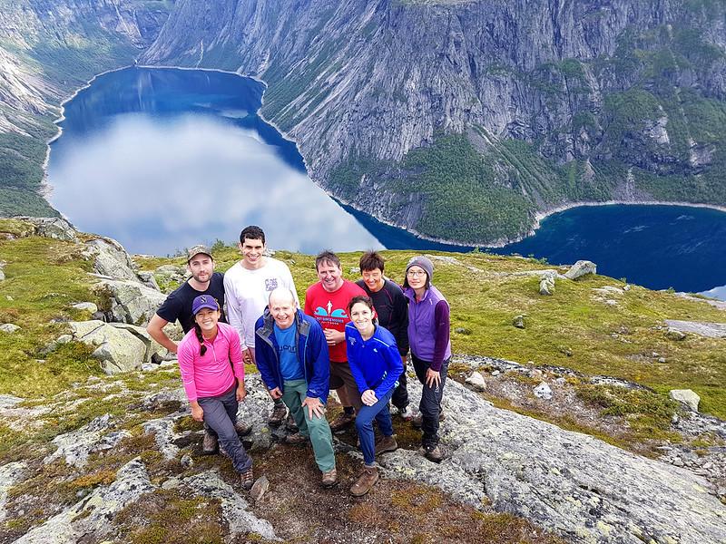 A group hike to Trolltunga Norway