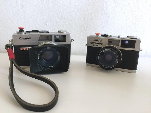 Canonet QL17 GIII & Olympus 35 RC