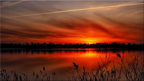 deu deutschland geo:lat=5403072813 geo:lon=1070275674 geotagged klingberg scharbeutz sonnenuntergang sunset see lake spiegelungen reflections olympus em5markii schleswigholstein