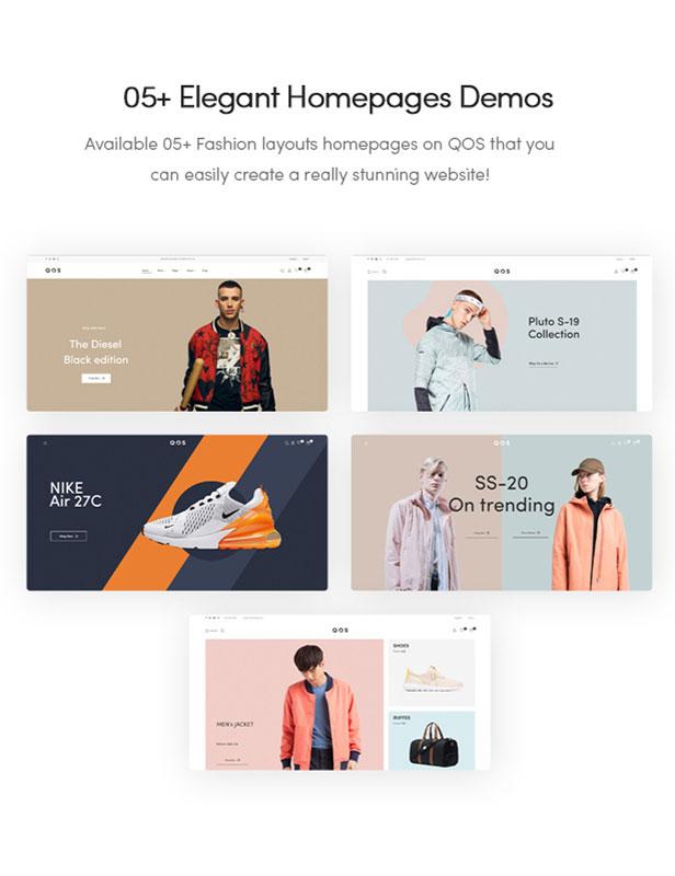 05+ Elegant Homepages Demos