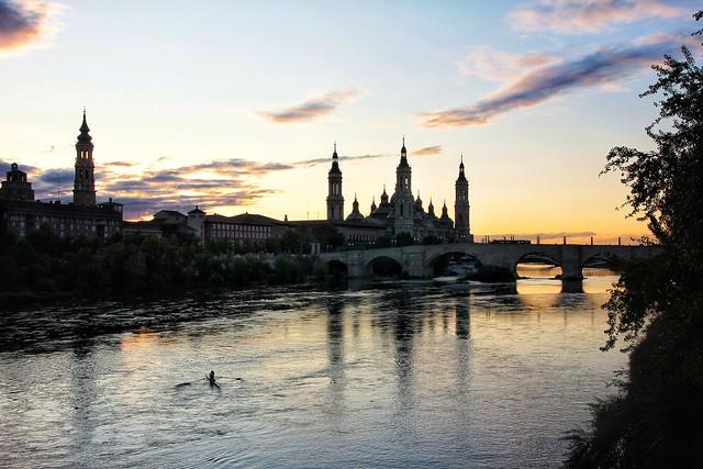 Ebro river (Zaragoza, Spain)