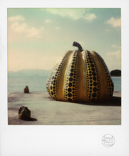 Pumpkins by Yayoi Kusama at Naoshima Island, Japan