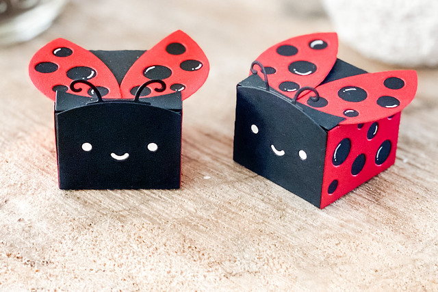 Ladybug favor boxes (Lawn Fawn inspiration week)