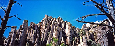 Standing rock formations at Chiricahua in Arizona, USA