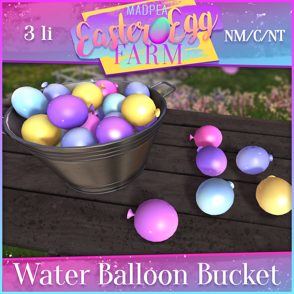 MadPea Easter Egg Farm BONUS Prize: Water Balloon Bucket!