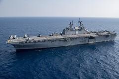 USS America (LHA 6) transits the East China Sea, April 10. (U.S. Navy/MCSN Jomark A. Almazan)