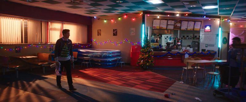 bowling lane scene