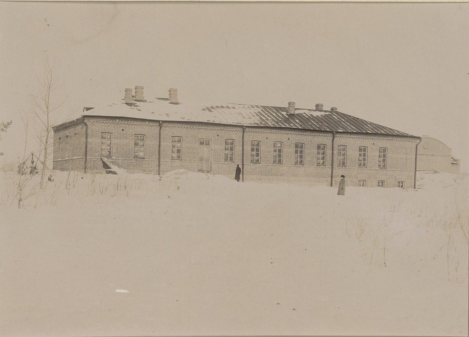Одно из зданий Хабаровской окружной артиллерийской мастерской