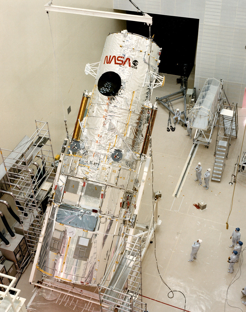 Hubble Space Telescope in Lockheed clean room