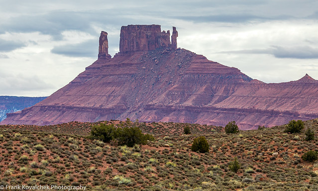 Landscape near the Fisher Towers, close to Moab, Utah