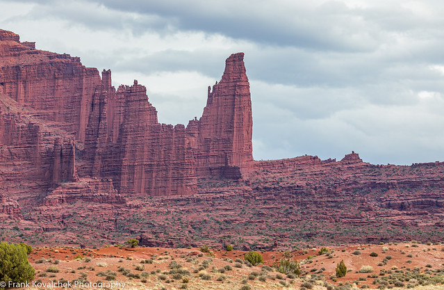 The Fisher Towers, near Moab, Utah