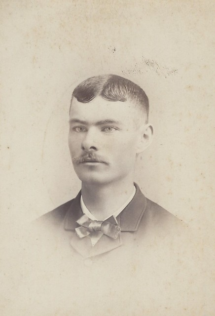 John E. Castle, Sara's brother (Cabinet Card by Washington Boyce, 18 North Vermillion Street, Danville, Illinois)