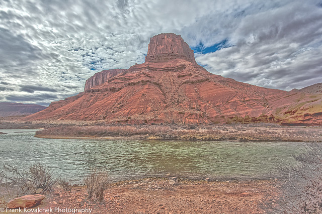 HDR photo of the landscape along the Colorado River near Castle Valley, Utah