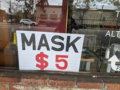 Masks 5 dollars, Aviva Cleaners, Burbank, California, USA | by gruntzooki