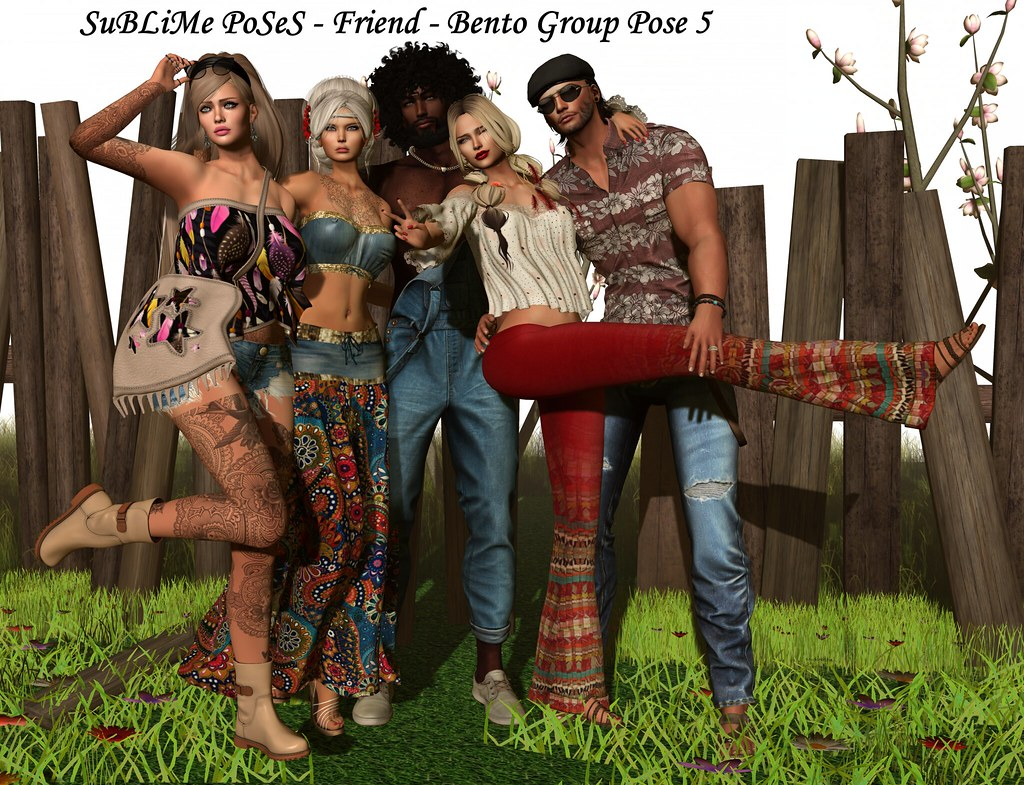 SuBLiMe PoSeS – Friend – Bento Group Pose 5