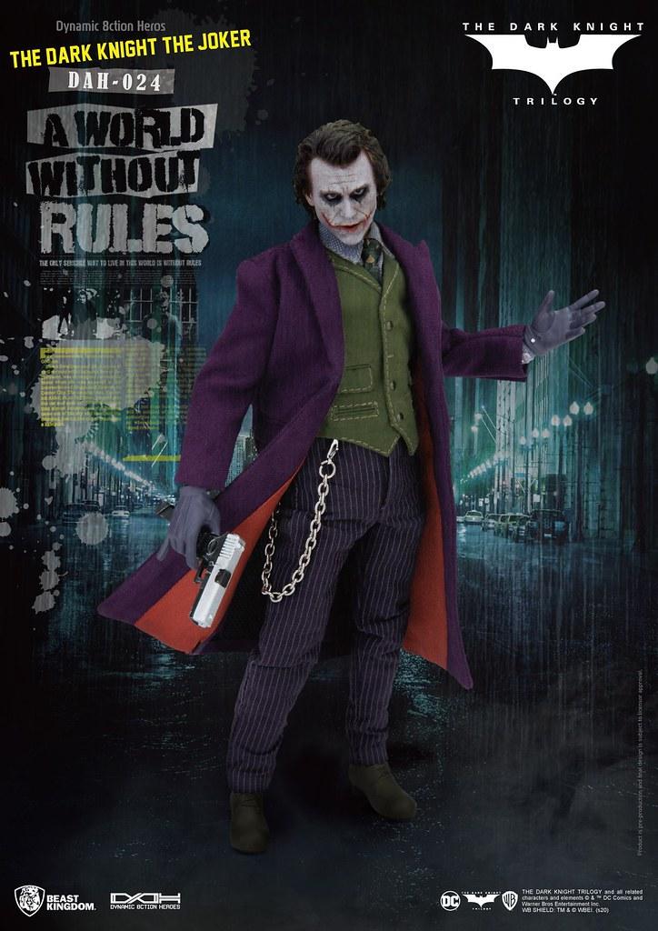 野獸國 究極英雄系列《黑暗騎士》小丑 The Joker DAH-024 8 吋可動人偶