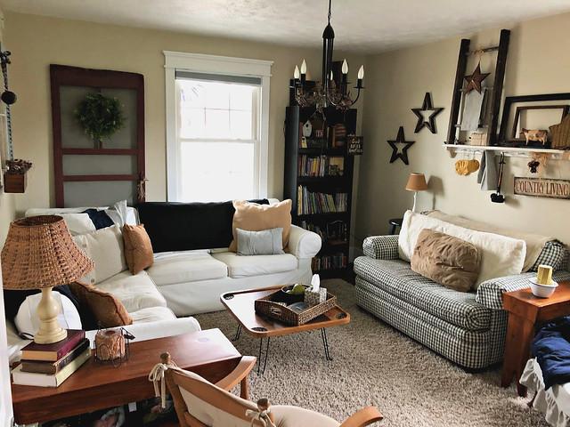 cozy farmhouse den