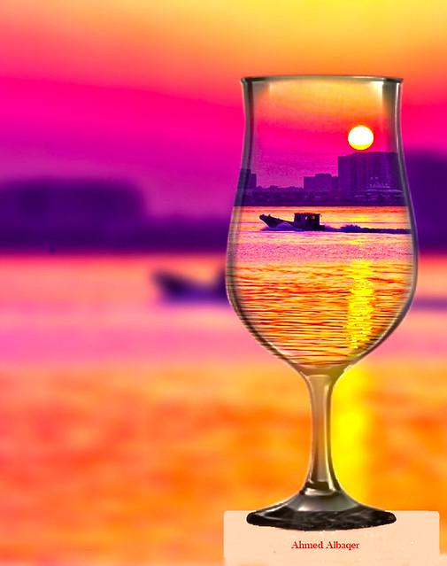 Sunrise of Bahrain is Orange and Warm .. شــروق شمس البحــرين برتقالي دافئ
