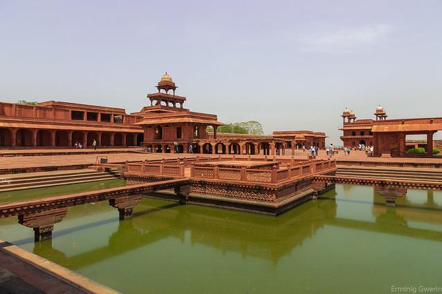 Les bassins - Fatehpur-Sikri - Uttar-Pradesh, Inde