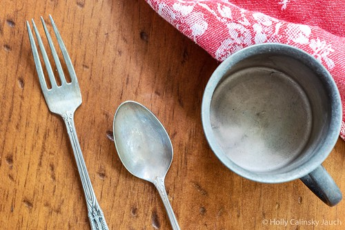 Old silver and linen