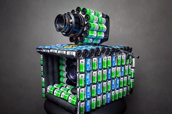 De cartuchos vazios a máquina fotográfica