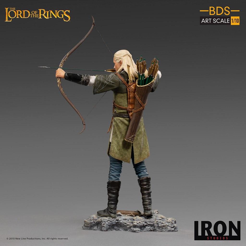 再現精靈弓箭手的銳利眼神! Iron Studios Battle Diorama 系列《魔戒》勒苟拉斯 Legolas 1/10 比例全身雕像