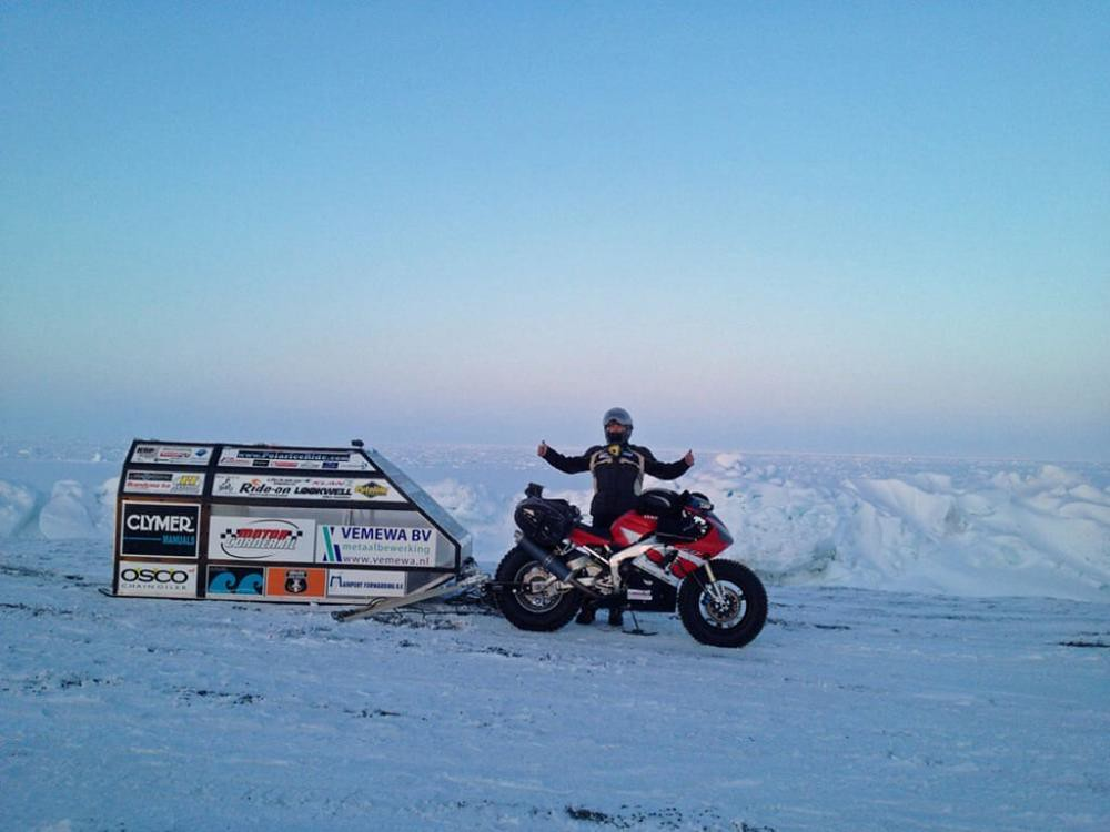 Yamaha R1 Sjaak Lucassen aRctic1 In North Cape