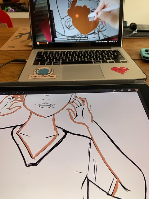Digital drawing with 21 Draw Master Class