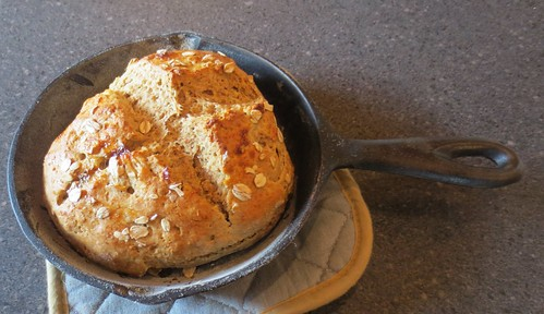 Irish Soda Bread Baked in Cast Iron
