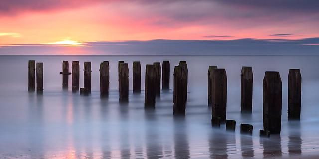 Winter Sunrise on Lowestoft beach