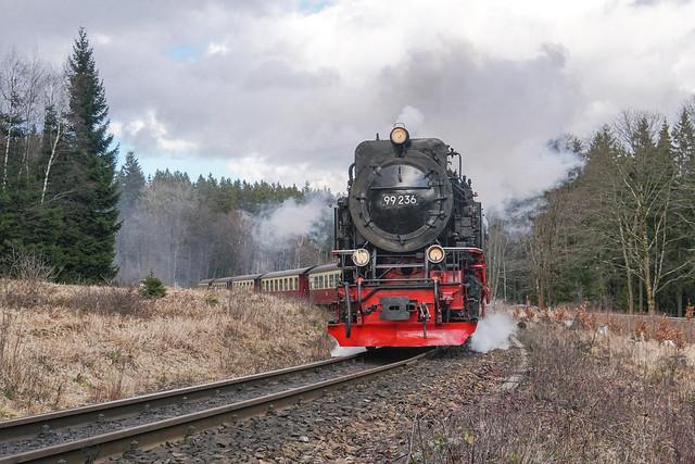 99 7236 HSB - Harzer Schmalspurbahnen GmbH   Drei Annen Hohne   März 2020
