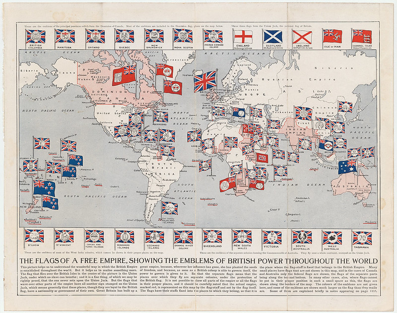 Map of flags of British Empire