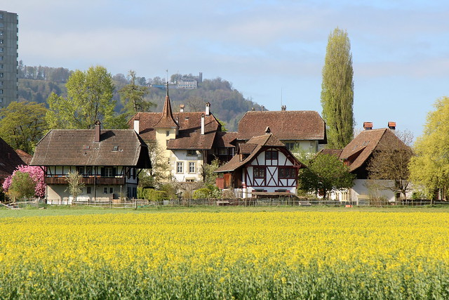 Schloss Wittigkofen ( Ursprung 13. Jahrhundert - mehre Umbauten - château castello castle ) im Wittigkofenquartier der Stadt Bern im Berner Mittelland im Kanton Bern der Schweiz