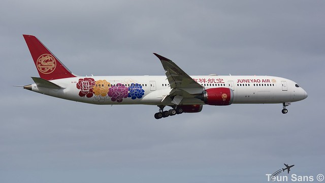 B-1115 - Juneyao Airlines 吉祥航空 - Boeing 787-9 Dreamliner. Painted in