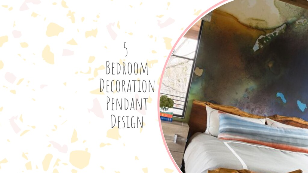 5 Bedroom Decoration Pendant Design