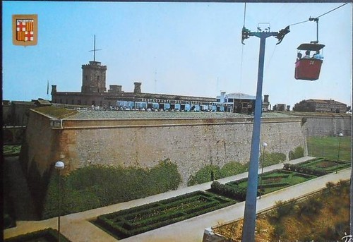postal castell de Montjuic telecadires