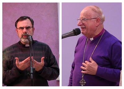 Priests speaking