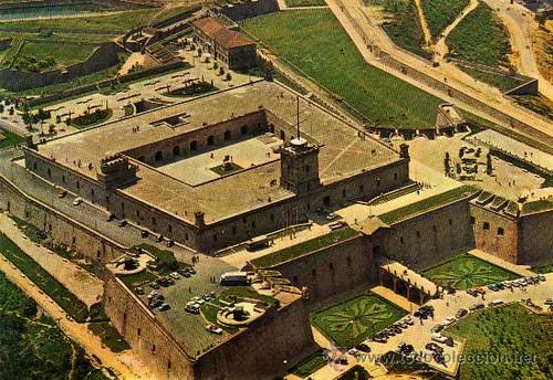 castell de Montjuïc a vol d'ocell