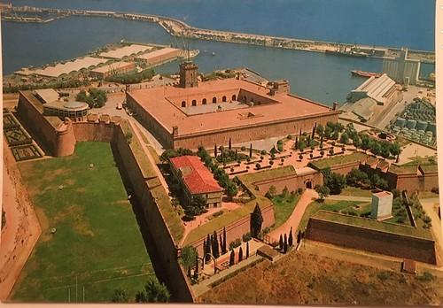 Castell de Montjuïc des de l'aire