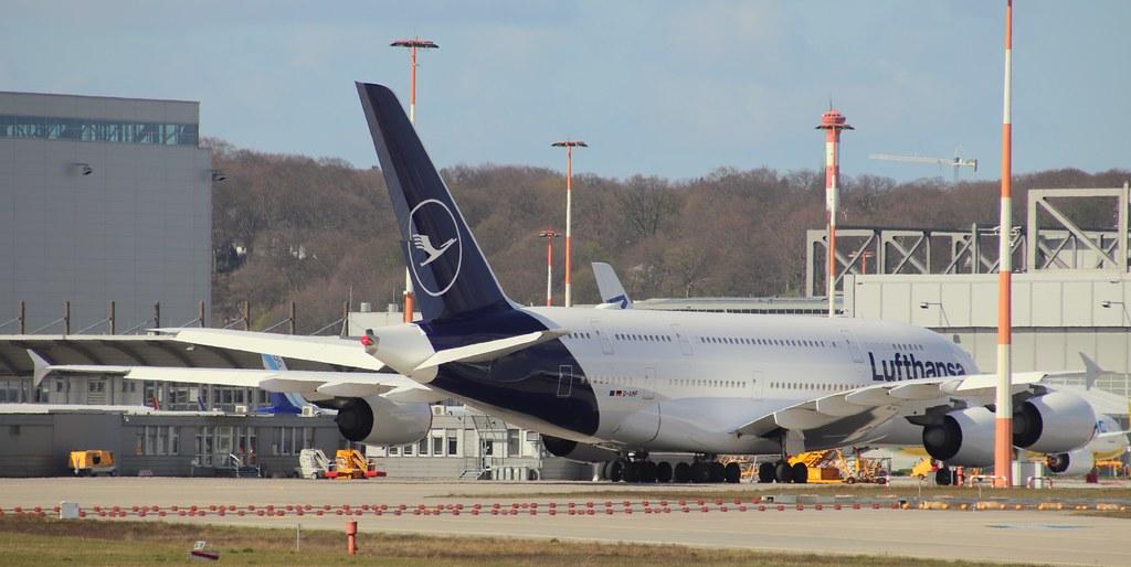 Lufthansa, D-AIMF, MSN 66, Airbus A 380-841, 13.04.2020,  XFW-EDHI, Hamburg Finkenwerder (Named: Zürich & Lufthansa new colors)