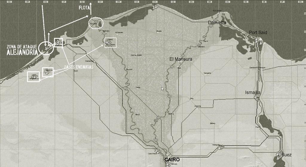 MAPA OPERACIONES ZONA DE ALEJANDRIA 31 OCTUBRE 18 A 19 HORAS