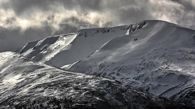 Aonach Mor Ridge, in winter