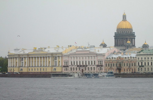 St Isaac's Cathedral,St Petersburg from Across River Neva