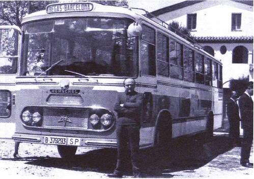 autobús Henschel línia regular Begues Barcelona