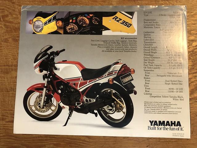 Yamaha RZ350 Kenny Roberts