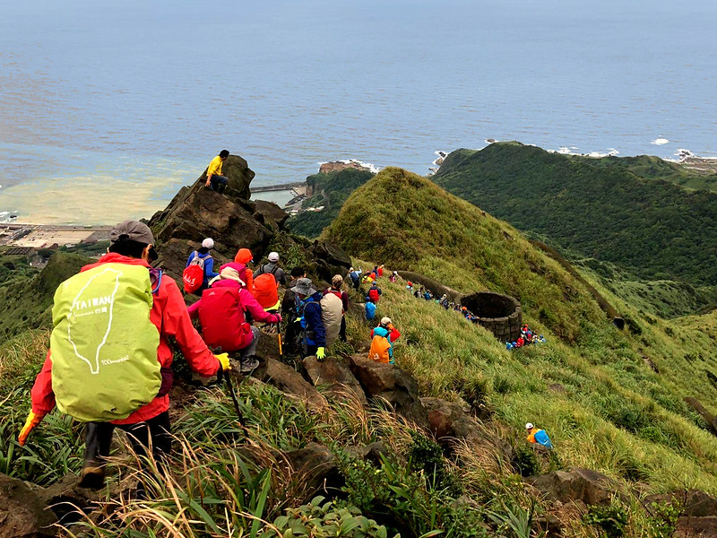 The trails can be very crowded in Taiwan