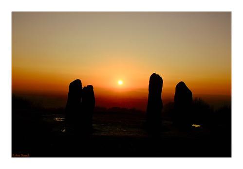 robindemel clenthills november29th2019 wintersun sunset sun red standingstones