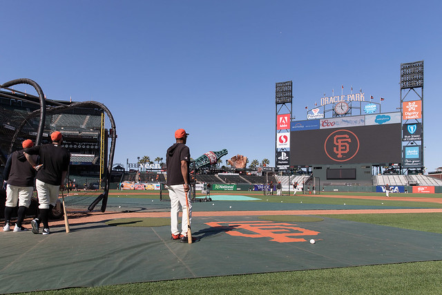 Giants Batting Practice