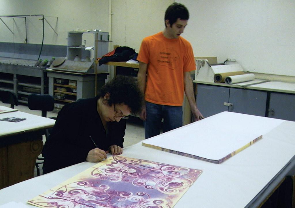 signing prints